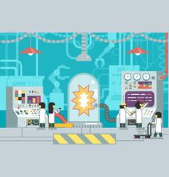Scientific laboratory experiment experience vector