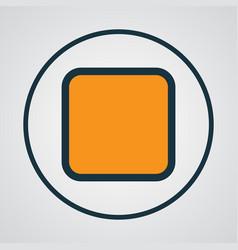 Stop colorful outline symbol premium quality vector