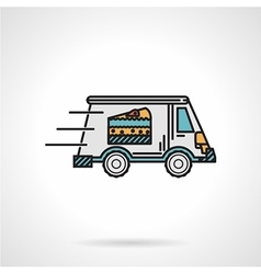 Dessert delivery flat color icon vector