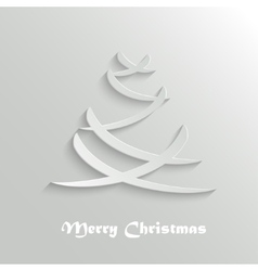 Abstract Modern Christmas Tree Background Design vector image