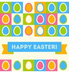 Easter card in retro style vector image