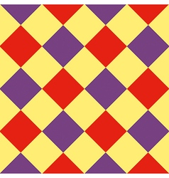 Yellow purple red diamond chessboard background vector