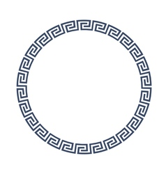 Round decorative frame for design in Greek style vector image