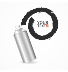 Aluminium spray can write speech bubble vector