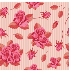 seamless roses red vector image