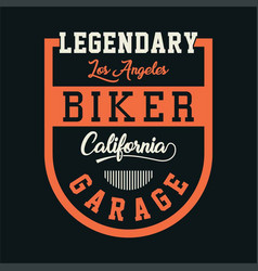 Biker california garage vector