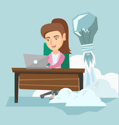 caucasian manager working on a new business idea vector image