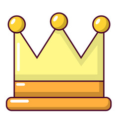 crown icon cartoon style vector image