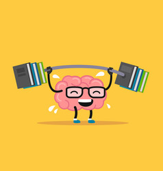 Enjoyable education brain cartoon training vector