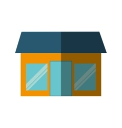 Front store building isolated icon vector
