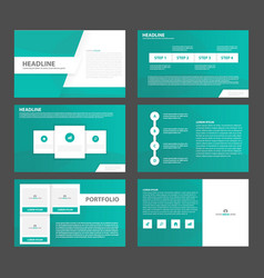 Green layout presentation templates infographic vector