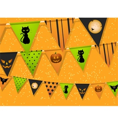 Halloween bunting vector image vector image