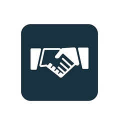 Handshake icon rounded squares button vector