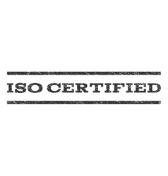 Iso certified watermark stamp vector