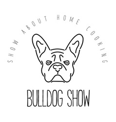 Logo with french bulldog for veterinary or petshop vector