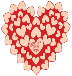 Lots Of Love vector image vector image