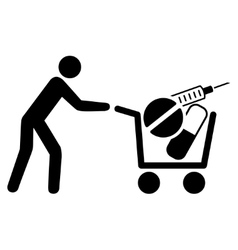 Medical Shopping Icon vector image vector image