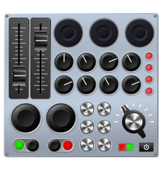 mixing or control console vector image vector image