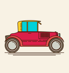 Retro car flat vector