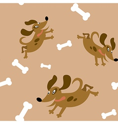 Seamless with the dogs vector