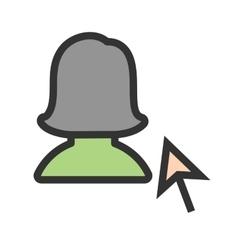 Select female profile vector