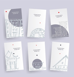Set of architecture company identify cards vector