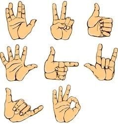 Set of hand gesture vector