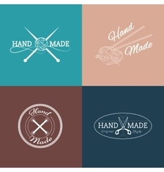 Set of hand made labels badges and logos for vector image vector image