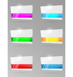 Set of paper banners with ribbon vector image