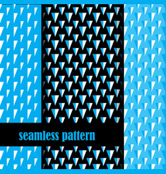 set of seamless pattern with triangle vector image
