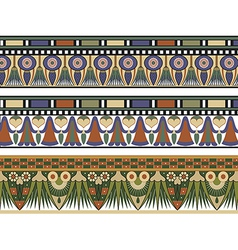 Set of three egyptian border vector