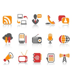 simple color Communication icons set vector image vector image