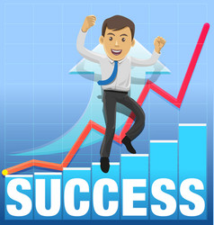 success celebrating vector image vector image