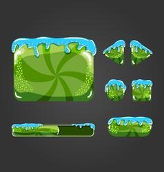 Sweet cartoon user interface games-3 vector