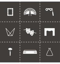 Theatre icon set vector