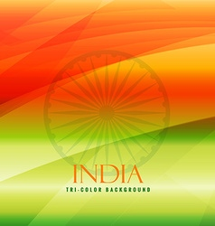 Tricolor background of india vector