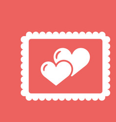 valentines day greeting card love concept in flat vector image