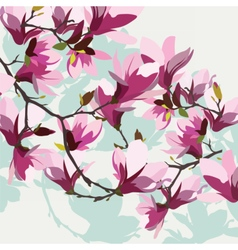 Vintage Spring Watercolor Background vector image
