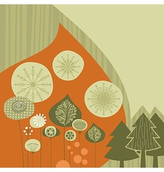 Winter Retro Background vector image vector image