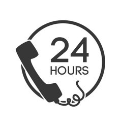 Telephone serivce 24 hours isolated vector