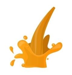 Orange splashe icon vector