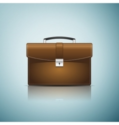 Briefcase brown business icon isolated on blue vector image