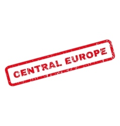 Central europe rubber stamp vector