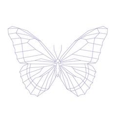 Geometric linear butterfly vector