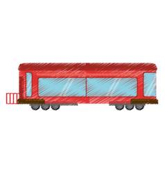Drawing drawing train wagon rail vector