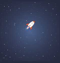Rocket and the space rocket flying in space vector