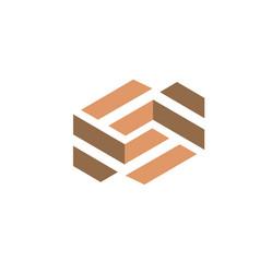 tile wooden logo vector image