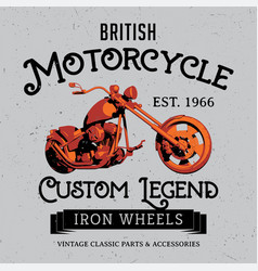 British motorcycle poster vector