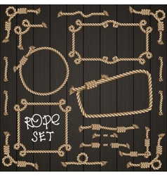 Set of rope elements for design vector image