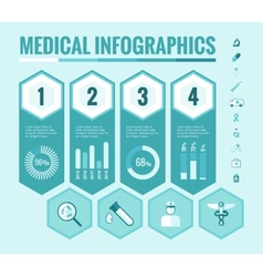 Medical infographic elements vector
